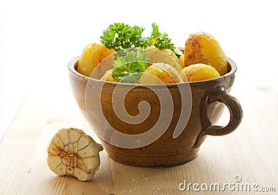Potatoes in a pot