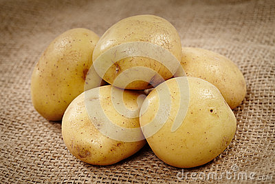 Potatoes on a rustic canvas
