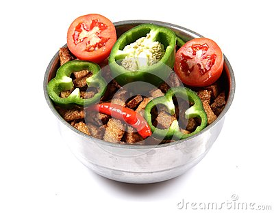 Potatoes and vegetable treat