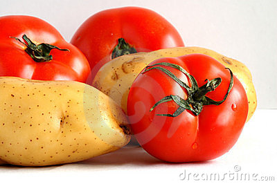Potatos and tomatoes