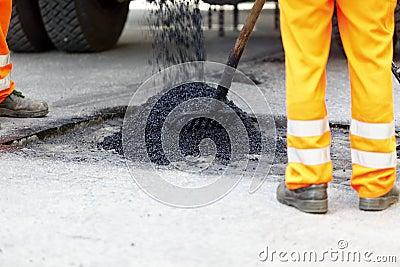 Pothole asphalt repair