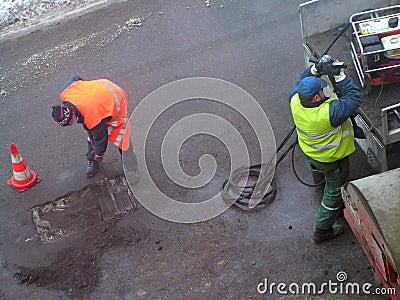 Pothole patching