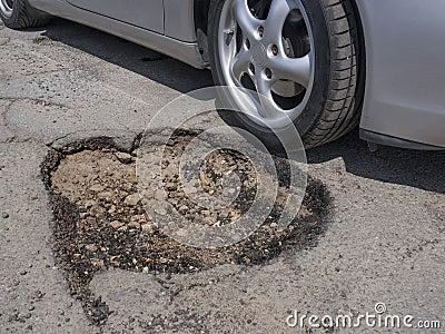 Pothole vermijden