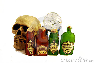 Potions, skull and skull