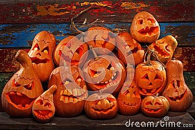 Potirons de Halloween