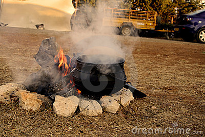 Potjie On The Fire Stock Image Image 4274211