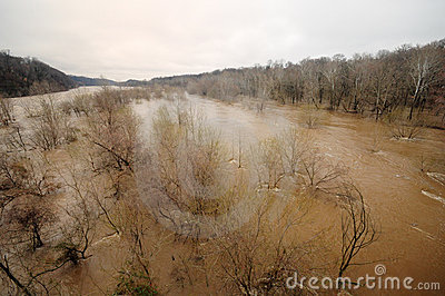 Potomac River Flood, March 2010 Editorial Stock Image