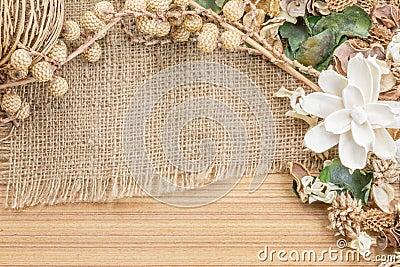 Potpourri,Dry flowers frame