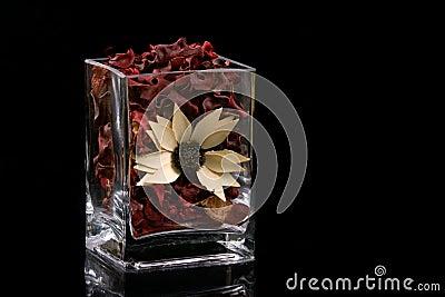 Potpourri in glass