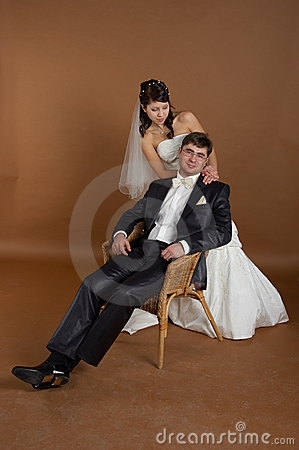 Potrait Of Bride And Groom Stock Photography - Image: 4935742