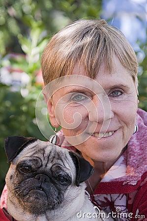 Potrait with dog