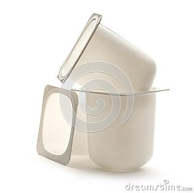 pots de yaourt image libre de droits image 34246346. Black Bedroom Furniture Sets. Home Design Ideas