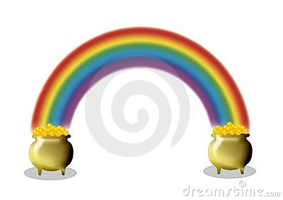 Pots of gold and rainbow