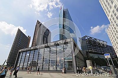 Potsdamer Platz in Berlin Editorial Stock Photo