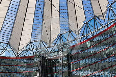 Potsdamer platz, futuristic roof dome of Sony Center Editorial Image
