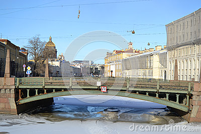 Potseluev Bridge on Moyka River