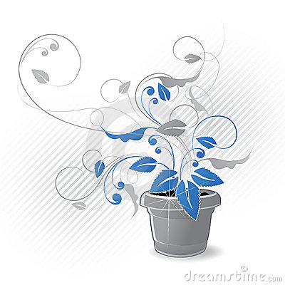 Potted Plant Graphic