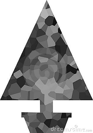 Potted Silver Crystal Christmas Tree