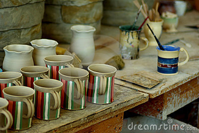 At the pottery