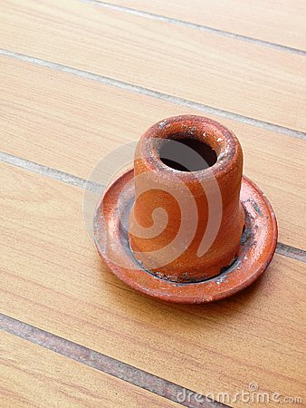 Pottery ashtray