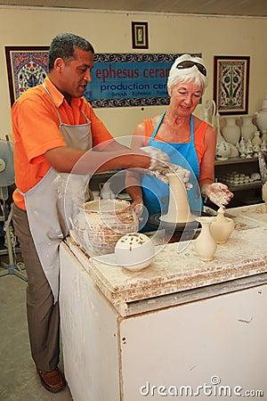 Pottery at Ephesus Editorial Photo