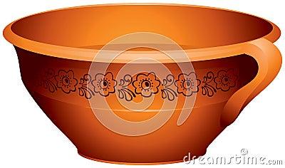 Pottery for the milk or porridge