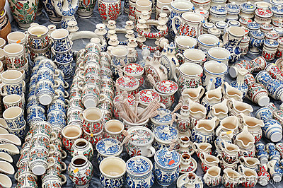 Pottery products on market