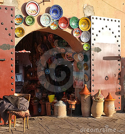 Pottery Souk, Marrakech, Morocco Editorial Image