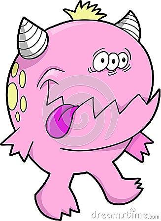 Potwór czarcie różowy