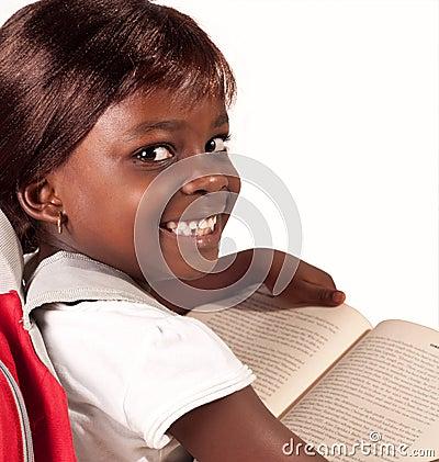 Pouca menina africana da escola