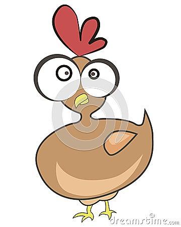Poulet dr le de dessin anim illustration de vecteur - Dessin de poulet ...