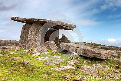 Poulnabrone dolmen in Ireland.