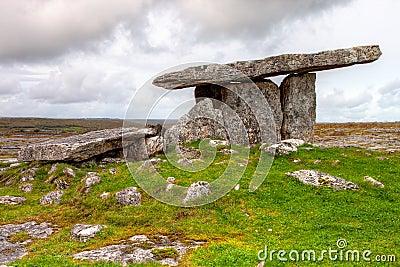 Poulnabrone dolmen portal tomb in Ireland.