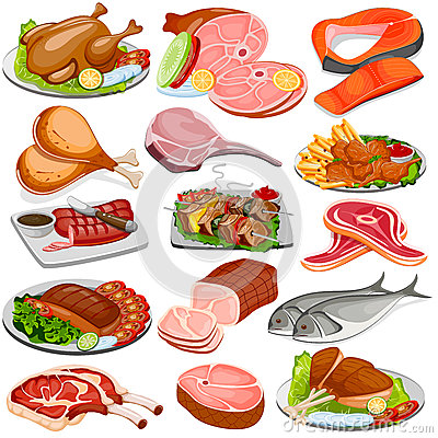 Free Poultry And Meat Product Food Collection Stock Image - 74717921
