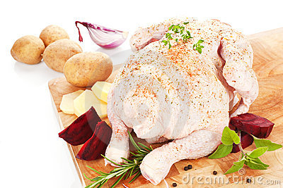Poultry background. Delicious raw chicken.
