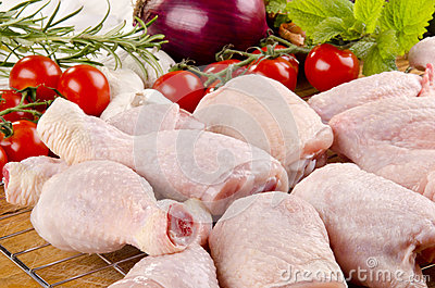 Poultry parts before preparation