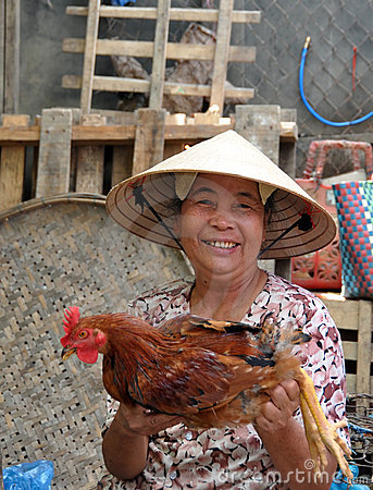 Poultry Vendor, Hoi An, Vietnam Editorial Image