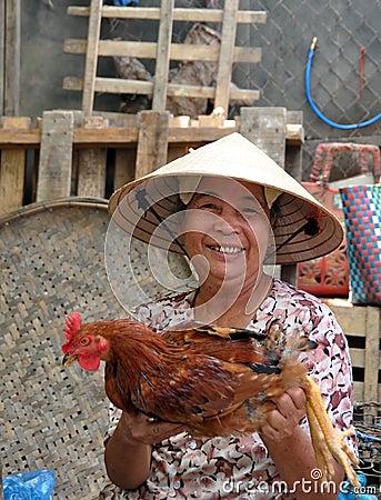 Poultry Vendor, Hoi An, Vietnam Editorial Image