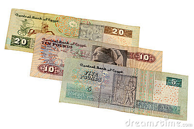 Pound bill of Egypt