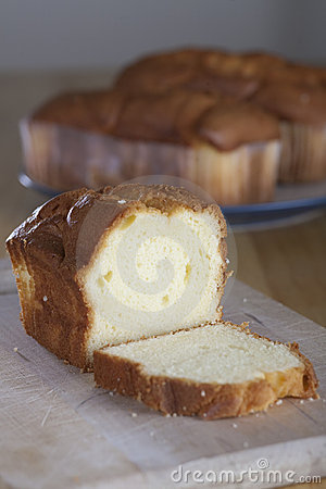 Pound Cake on Cutting Board