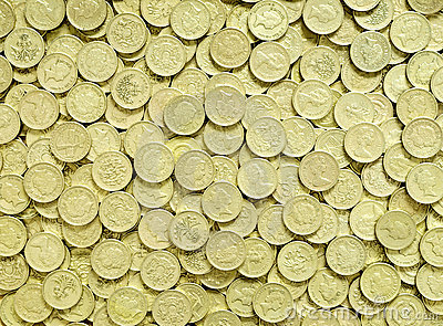 Pound Coins Background