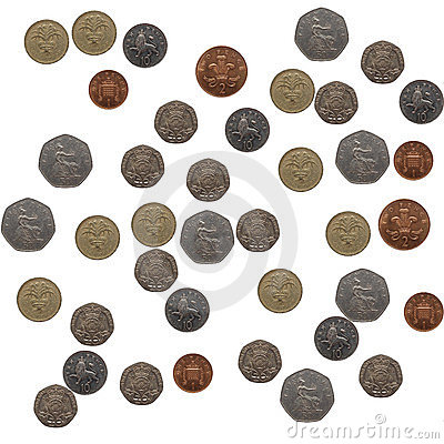 Pound coins collage