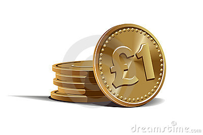 Pound coins vector illustration