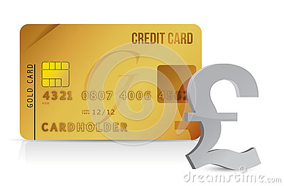 Pound credit card concept illustration design