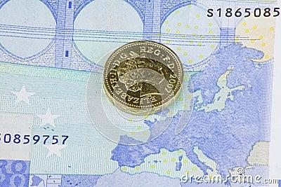 Pound and the euro