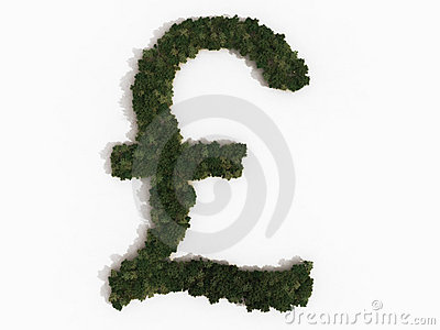 Pound sign made of trees