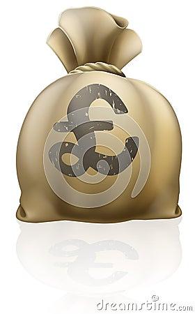 Pound sterling sign sack