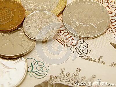 Poundbargeld des britischen Sterling