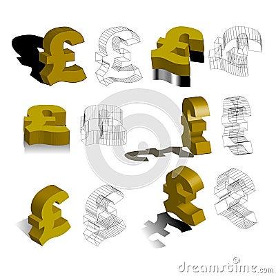 £, pounds