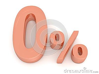 Pour cent zéro